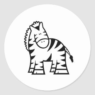 Etiqueta da zebra dos desenhos animados