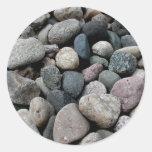 Etiqueta dada forma coração da rocha adesivos em formato redondos