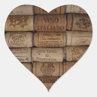 Etiqueta dada forma da coleção da cortiça do vinho