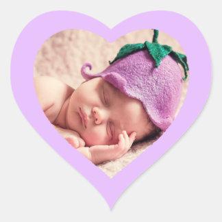 Etiqueta dada forma Purple Heart bonito feita sob
