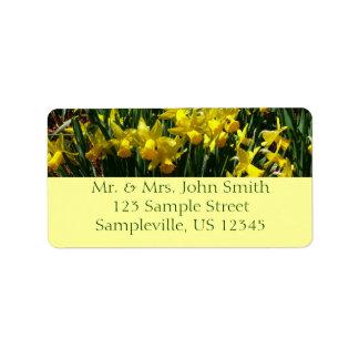 Etiqueta Daffodils amarelos mim flores animadores do