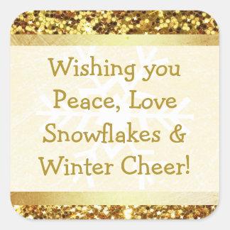 Etiqueta das citações do Natal do inverno do floco