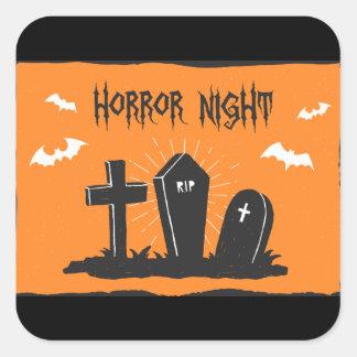 Etiqueta das sepulturas do Dia das Bruxas