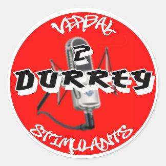 "Etiqueta de 2 estimulantes ""verbais"" de DURRTY Adesivo"