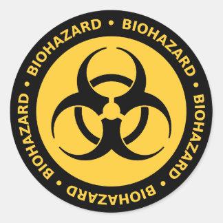 Etiqueta de advertência do Biohazard