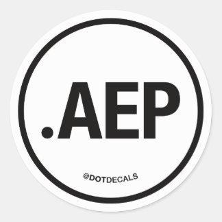 Etiqueta de AEP