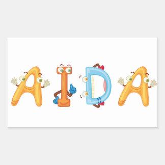 Etiqueta de Aida