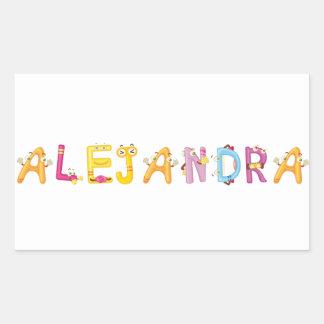 Etiqueta de Alejandra