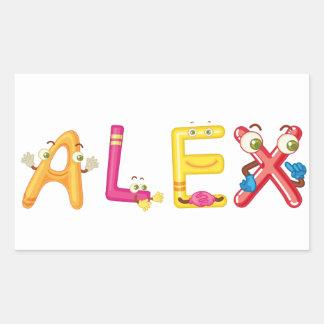 Etiqueta de Alex