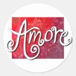 Etiqueta de Amore Adesivos Em Formato Redondos