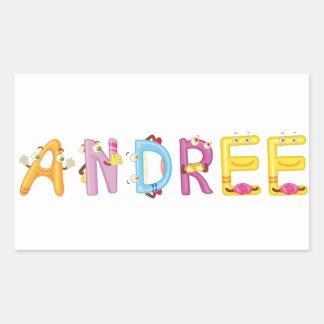 Etiqueta de Andree
