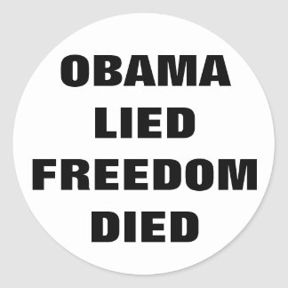 Etiqueta de Anti-Obama Adesivo Redondo