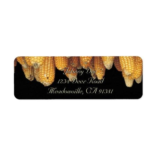 Etiqueta de Avery da fileira do milho Etiqueta Endereço De Retorno