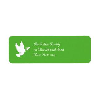 Etiqueta de Avery da pomba da paz