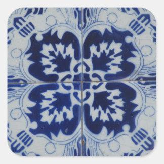 Etiqueta de Azulejo Adesivo Em Forma Quadrada