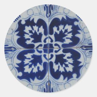 Etiqueta de Azulejo Adesivos Redondos