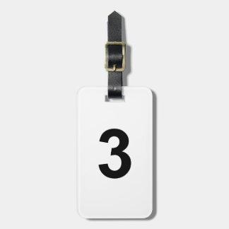 Etiqueta De Bagagem 3 - número três