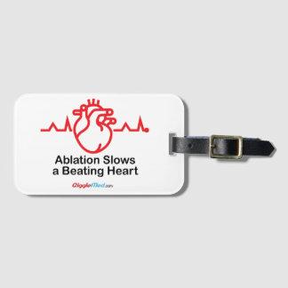 Etiqueta De Bagagem A ablação retarda um coração batendo
