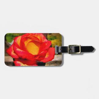 Etiqueta De Bagagem A bagagem cor-de-rosa da chama personaliza o Tag