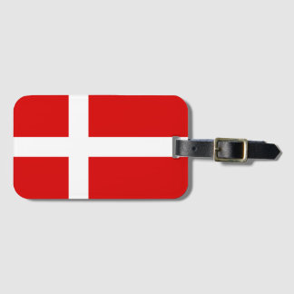 Etiqueta De Bagagem A bagagem dinamarquesa da bandeira etiqueta para