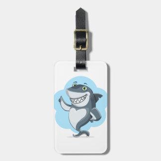Etiqueta De Bagagem A casa da natação dos peixes do tubarão