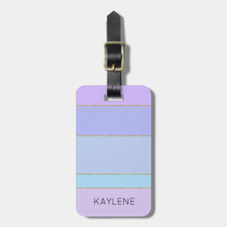 Etiqueta De Bagagem A cor personalizada da guarnição do ouro listra o