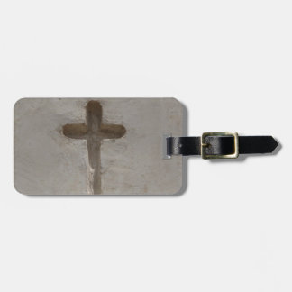 Etiqueta De Bagagem A cruz cristã primitiva personaliza a bíblia