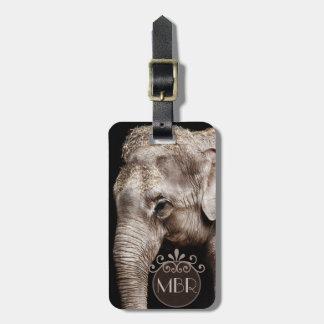 Etiqueta De Bagagem A imagem da foto do elefante personaliza o