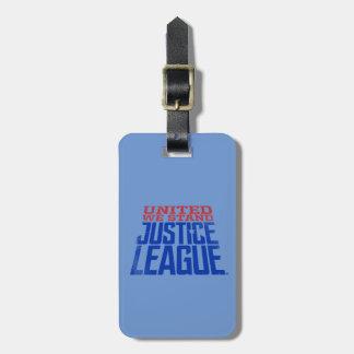 Etiqueta De Bagagem A liga de justiça | uniu-nos está gráfica