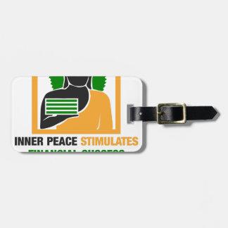 Etiqueta De Bagagem A paz interna estimula o sucesso financeiro