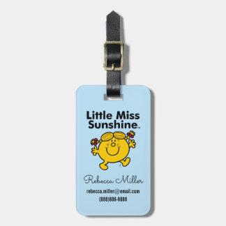 Etiqueta De Bagagem A senhorita pequena pequena Luz do sol da