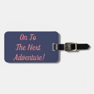 Etiqueta De Bagagem A um Tag novo da bagagem da aventura