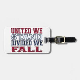 Etiqueta De Bagagem A união faz a força t-shirt e presente