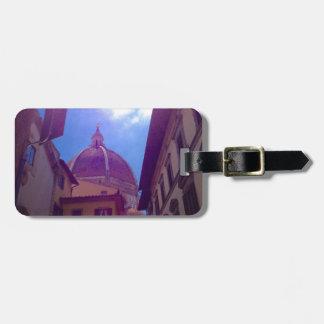 Etiqueta De Bagagem Abóbada de Brunelleschi em Florença, Italia