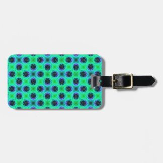 Etiqueta De Bagagem Abstrato geométrico azul roxo verde