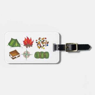 Etiqueta De Bagagem Acampamento personalizado que acampa caminhando o