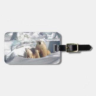 Etiqueta De Bagagem Adicione o SLOGAN para salvar o gelo ártico do