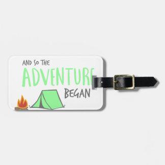 Etiqueta De Bagagem adventurebegan