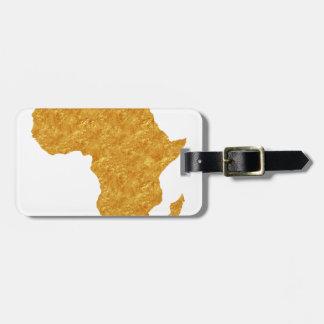 Etiqueta De Bagagem África Dourada
