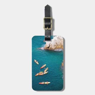 Etiqueta De Bagagem Água azul que Kayaking