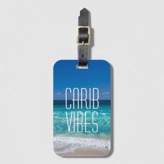 Etiqueta De Bagagem Água tropical de turquesa da praia das impressões