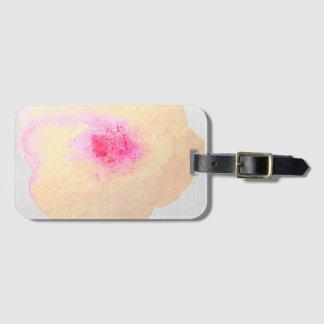Etiqueta De Bagagem Aguarela cor-de-rosa do ouro floral