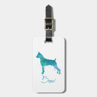 Etiqueta De Bagagem Aguarela do cão do pugilista