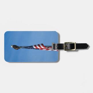 Etiqueta De Bagagem Águia americana e bandeira americana - Tag da