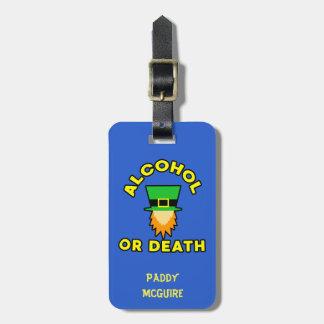 Etiqueta De Bagagem Álcool ou morte!