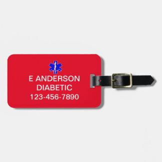 Etiqueta De Bagagem Alerta médico feito sob encomenda da emergência da