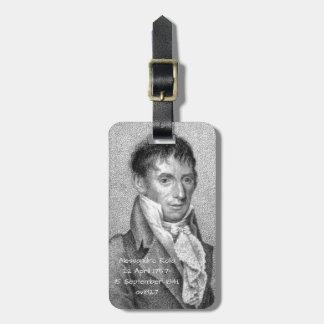 Etiqueta De Bagagem Alessandro Rolla antes de 1827