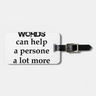 Etiqueta De Bagagem algumas palavras agradáveis podem ajudar uma