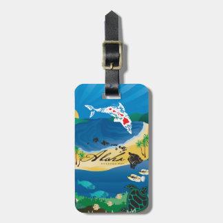 Etiqueta De Bagagem Aloha ilhas de Havaí