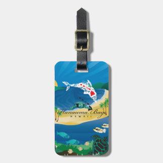 Etiqueta De Bagagem Aloha ilhas de Havaí da baía de Hanauma